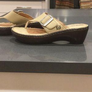Born Light Tan Leather Sandal with Buckle